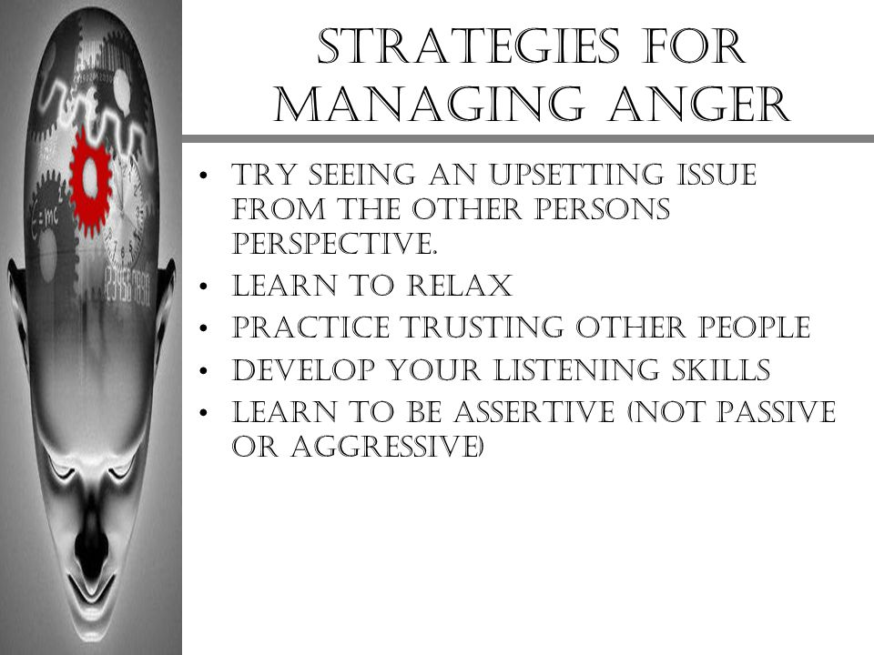 Strategies for managing anger