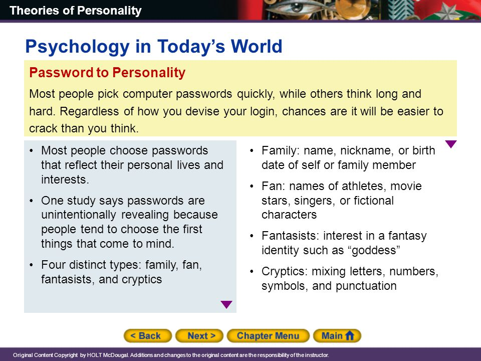 Chapter 14: Theories of Personality - ppt download