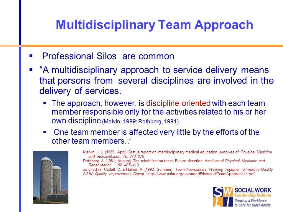 interdisciplinary and multidisciplinary approach