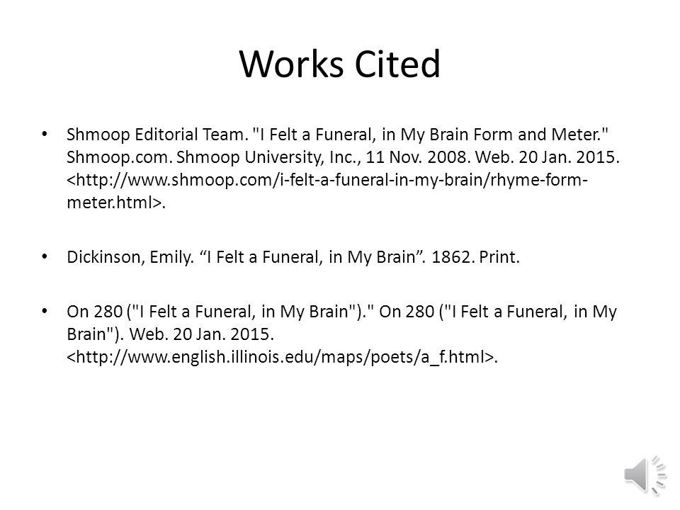 emily dickinson poem i felt a funeral in my brain