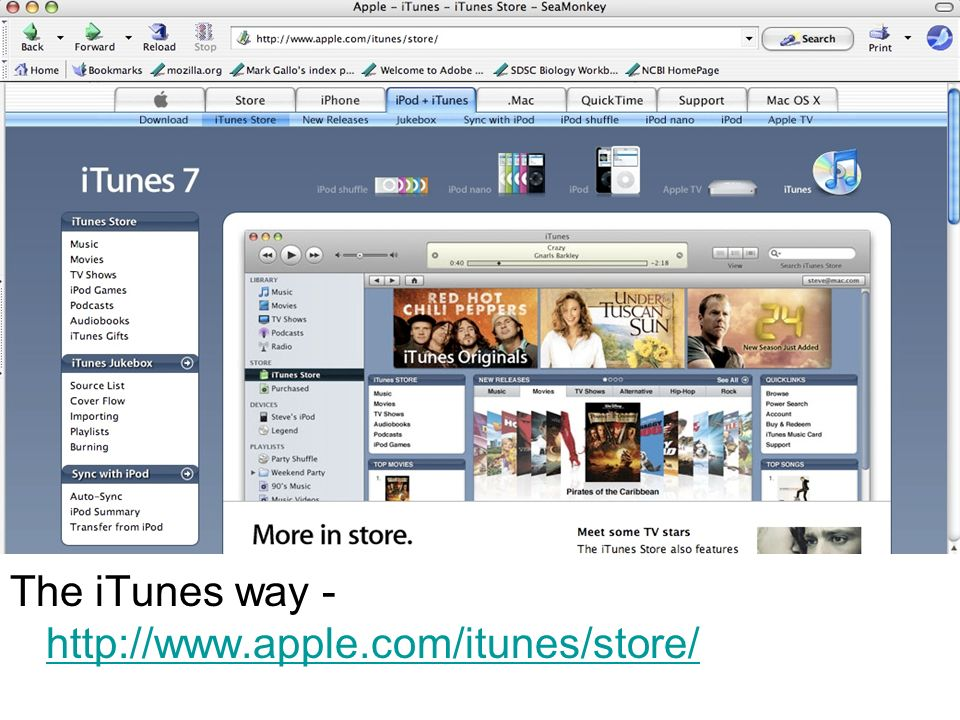 The iTunes way - http://www.apple.com/itunes/store/