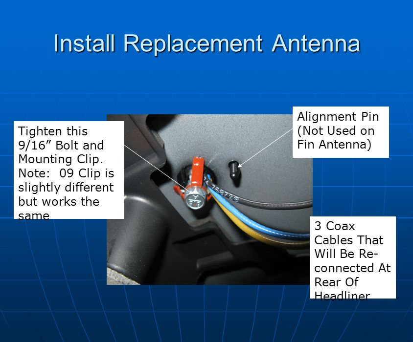 Install Replacement Antenna