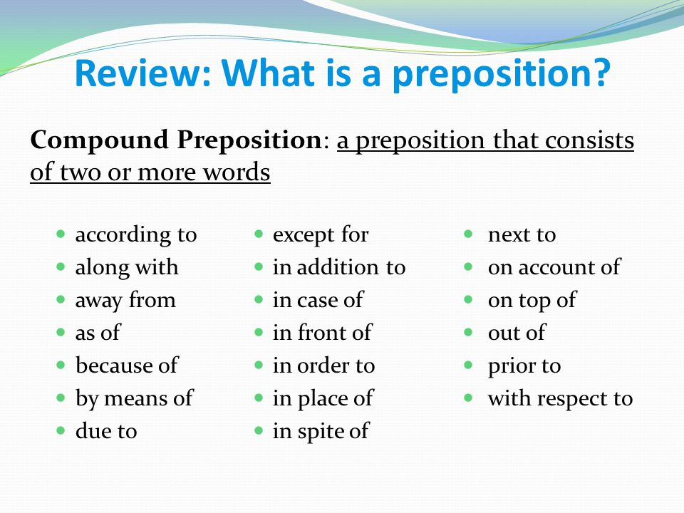 English grammar compound prepositions with examples youtube.
