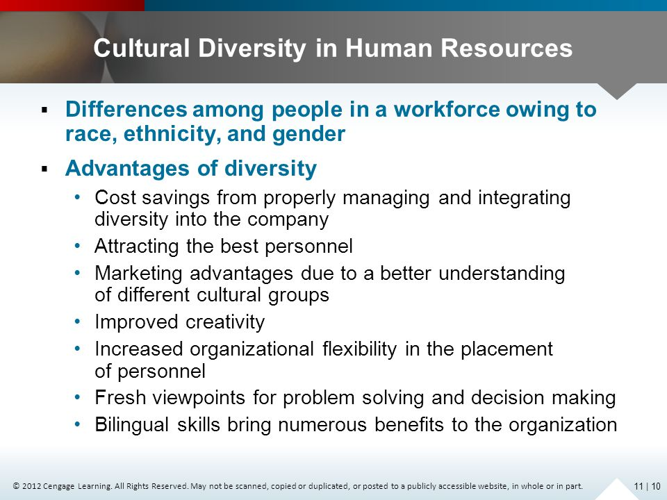 Cultural Diversity in Human Resources