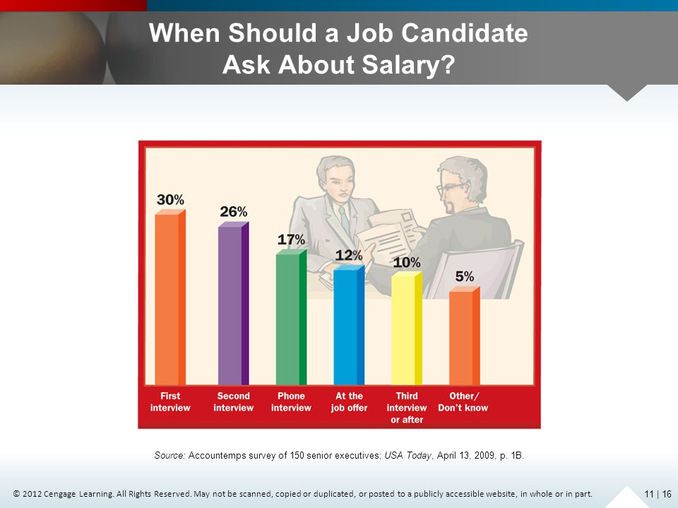 When Should a Job Candidate Ask About Salary