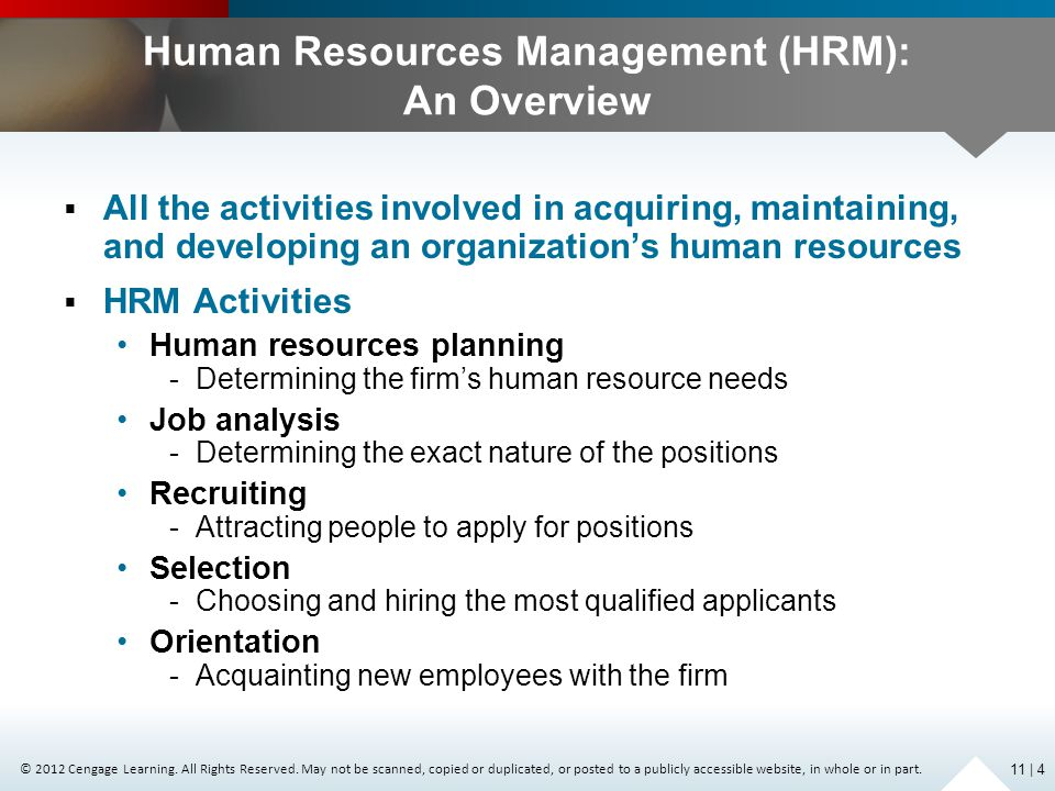 Human Resources Management (HRM): An Overview