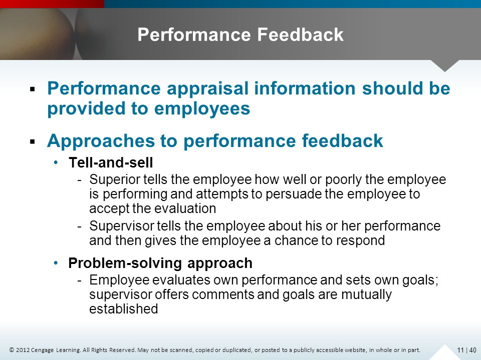 Performance appraisal information should be provided to employees