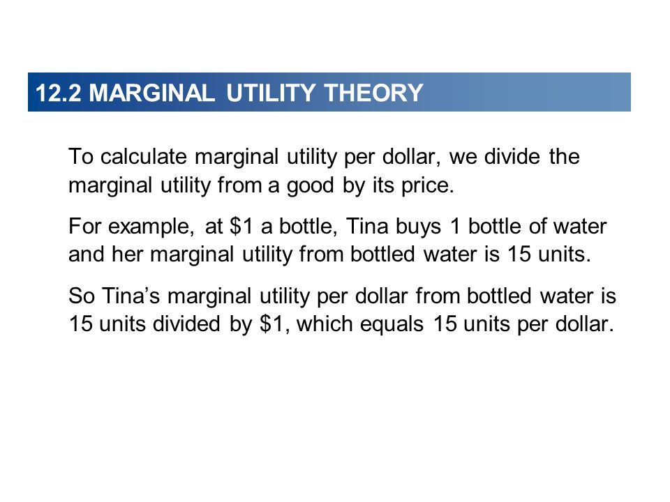marginal utility divided by price
