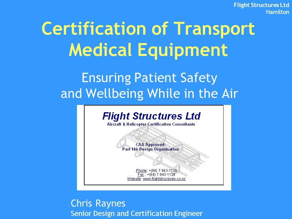 Certification Of Transport Medical Equipment Ppt Video