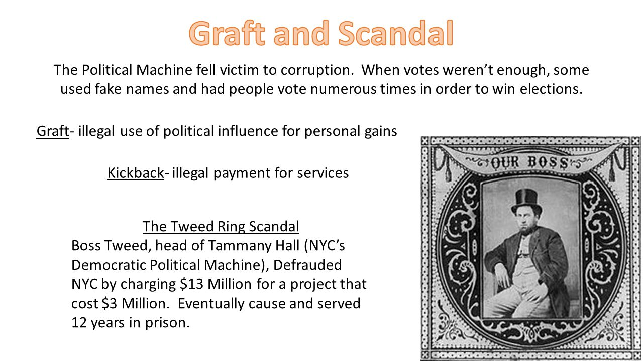 Graft and Scandal