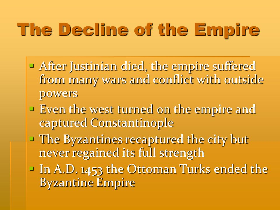 The Decline of the Empire