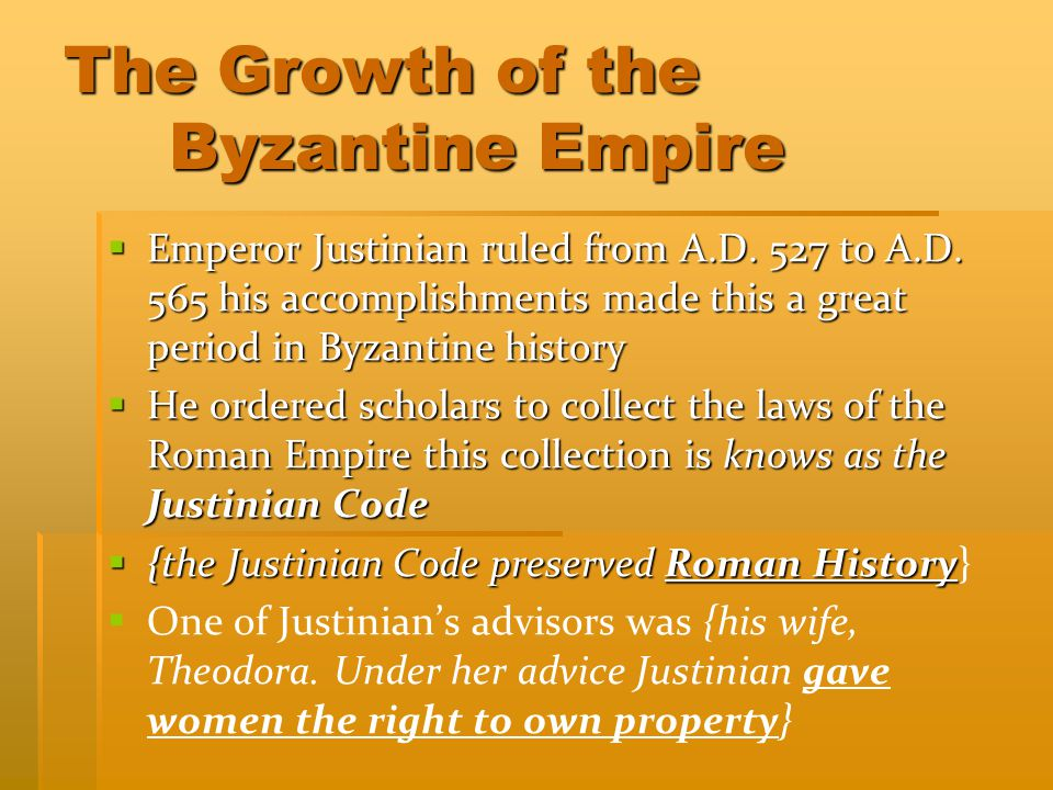 The Growth of the Byzantine Empire