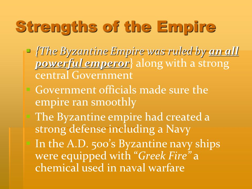 Strengths of the Empire