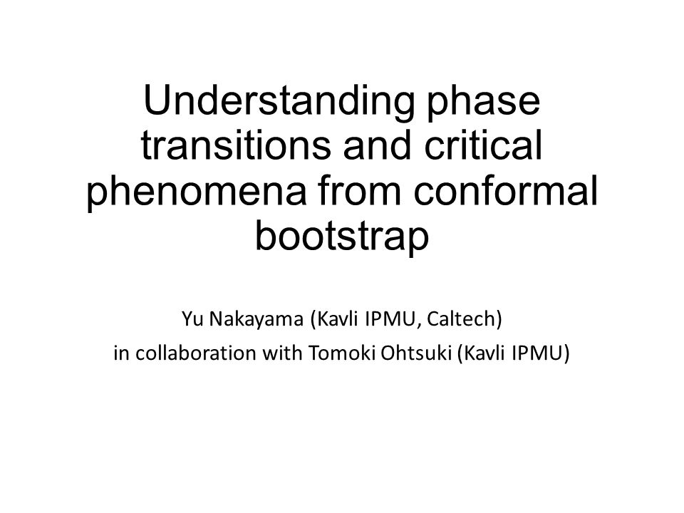 Understanding phase transitions and critical phenomena from conformal bootstrap