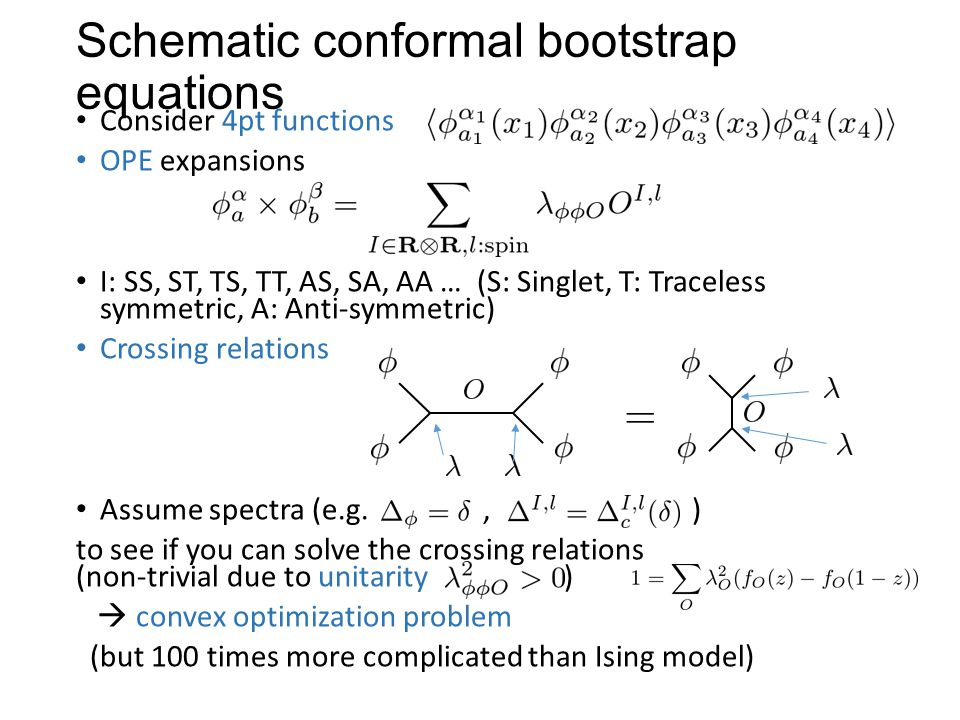 Schematic conformal bootstrap equations
