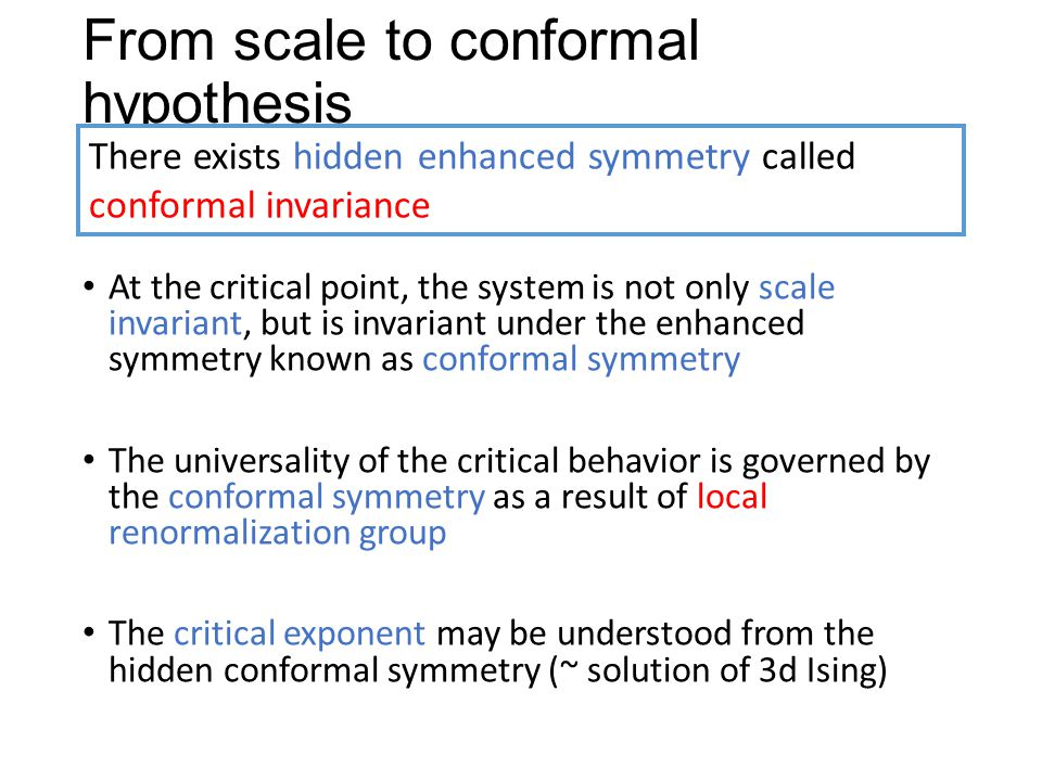 From scale to conformal hypothesis