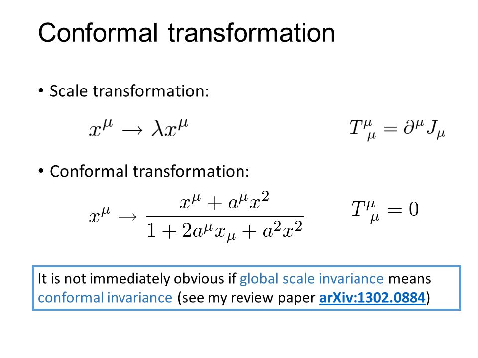 Conformal transformation
