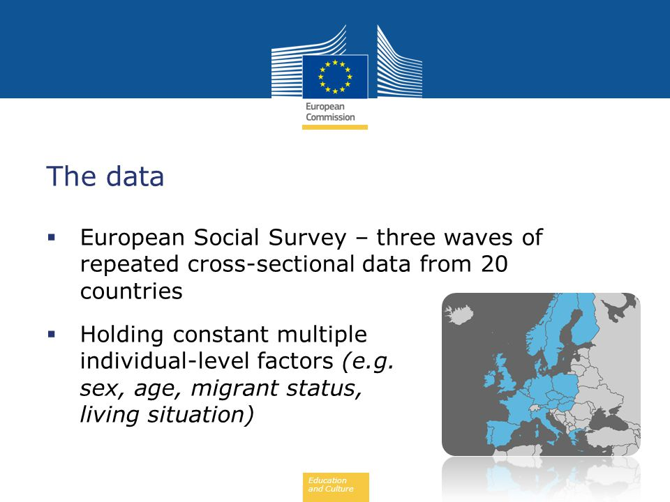 EARLY SCHOOL LEAVING 07/02/2013. The data. European Social Survey – three waves of repeated cross-sectional data from 20 countries.