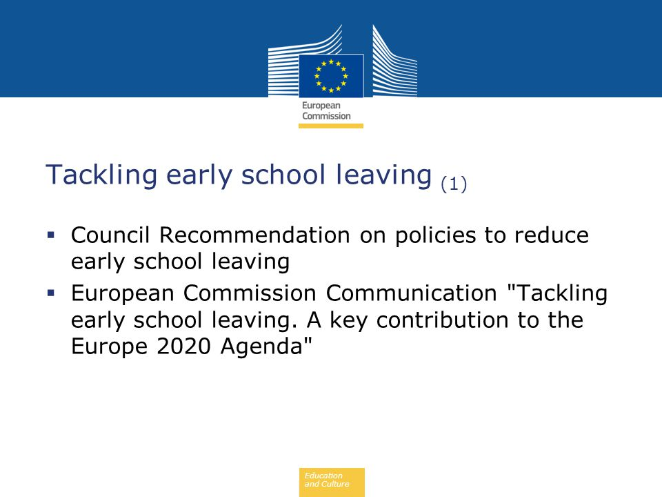 Tackling early school leaving (1)