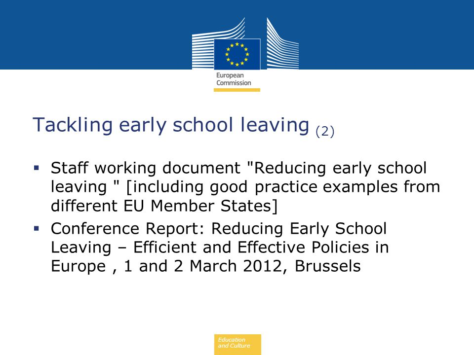 Tackling early school leaving (2)