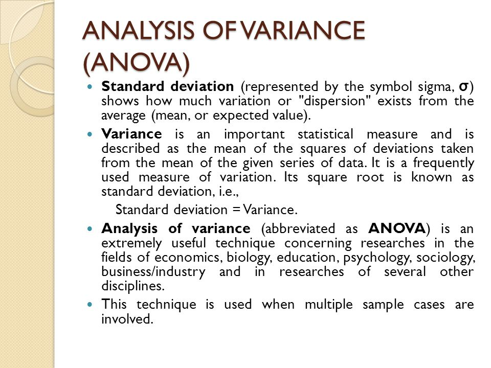 Introduction To One Way And Two Way Analysis Of Variance Ppt Video