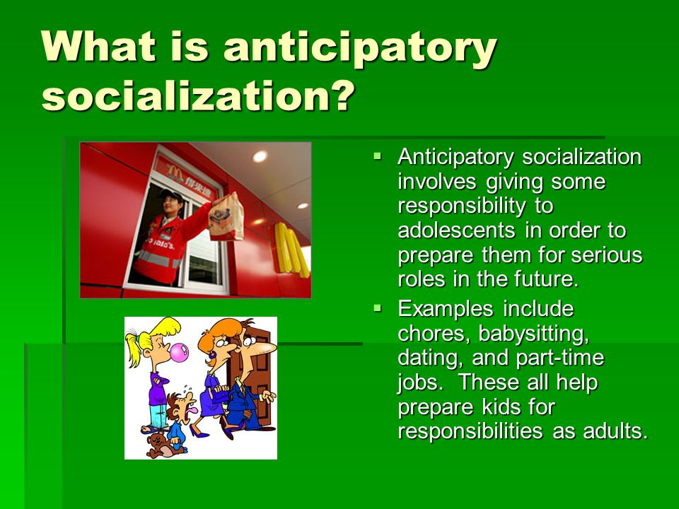 primary socialization examples