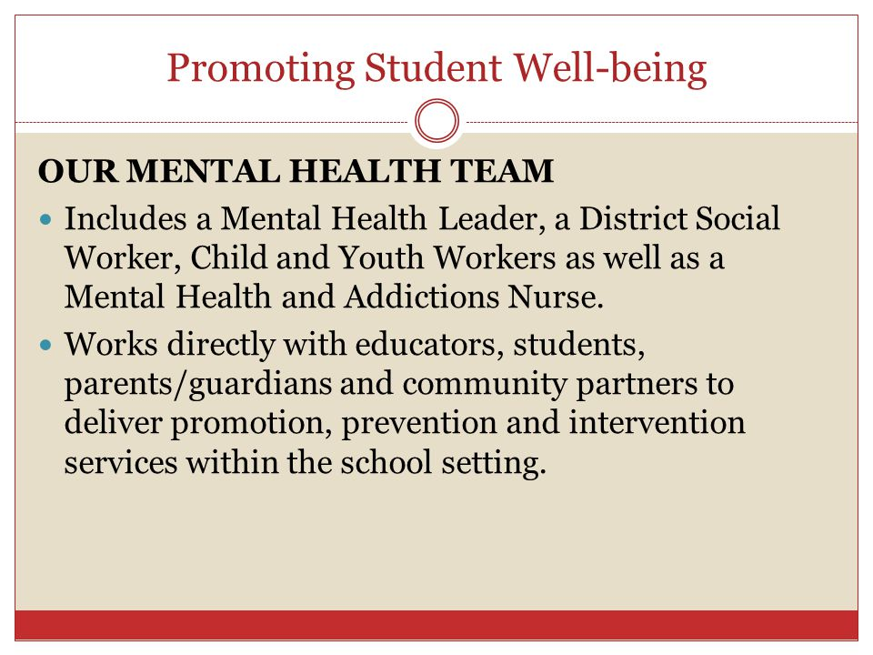 Promoting Student Well-being