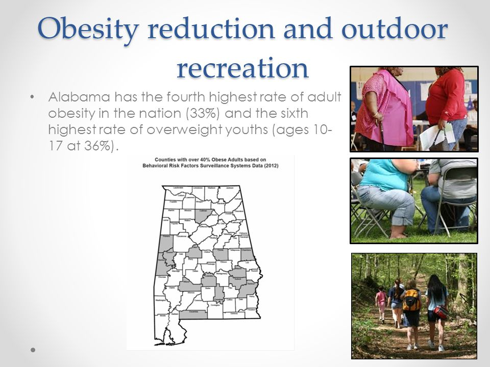 Obesity reduction and outdoor recreation