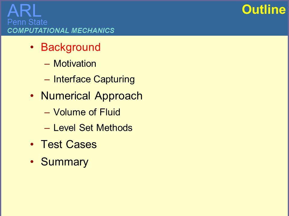 Comparison of Interface Capturing Methods using OpenFOAM