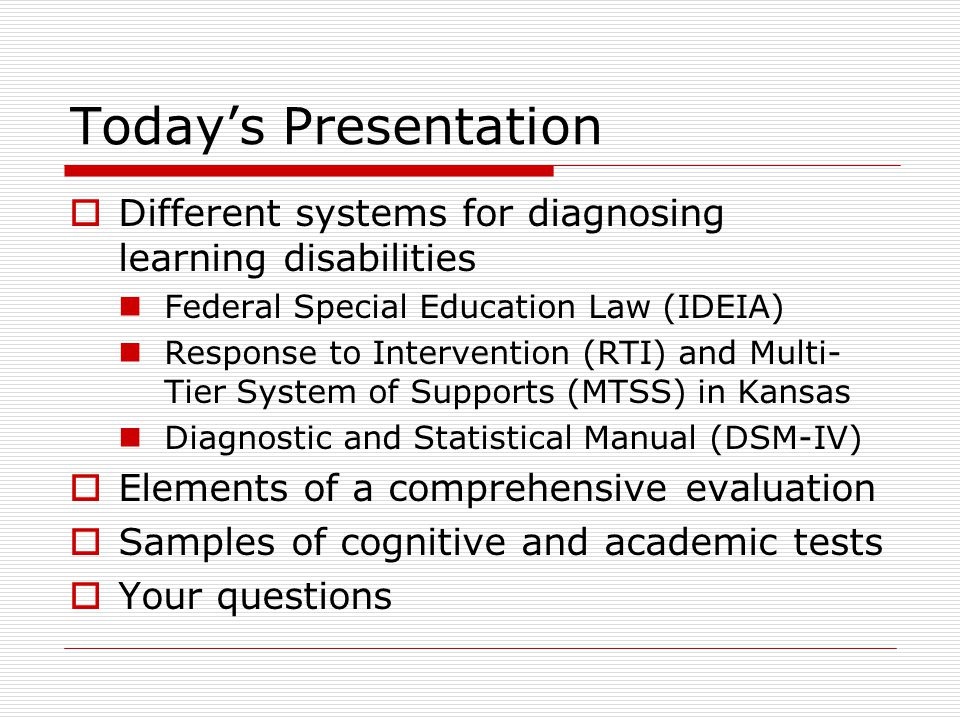 Evaluation For Learning Disability >> Understanding Tests And Evaluations Of Learning Ppt Video Online