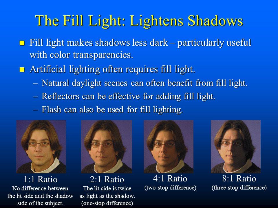 The Fill Light: Lightens Shadows
