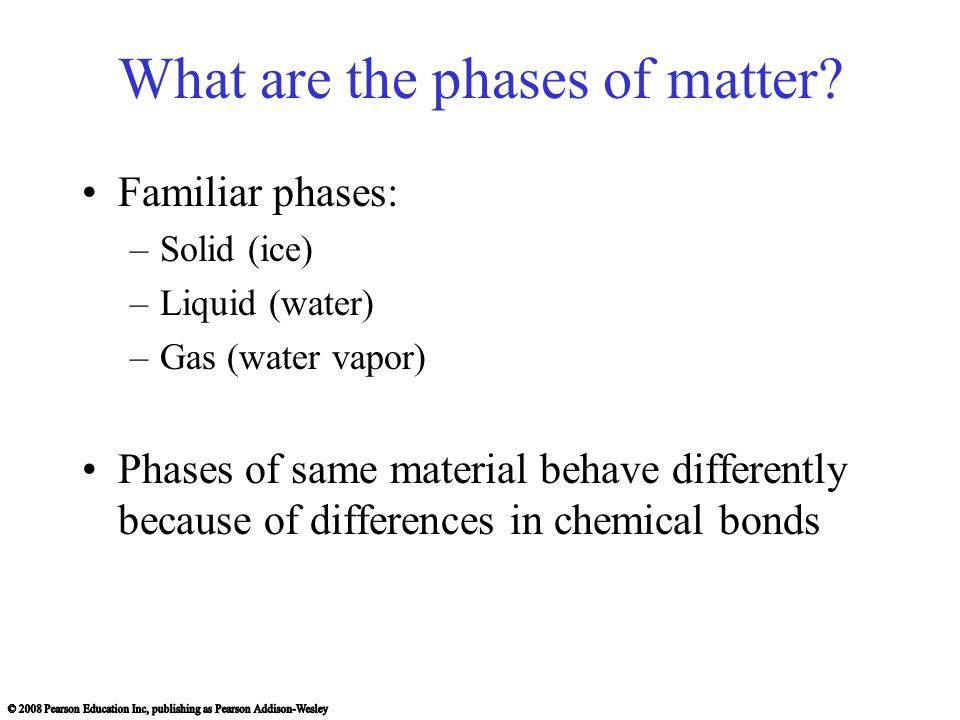 What are the phases of matter