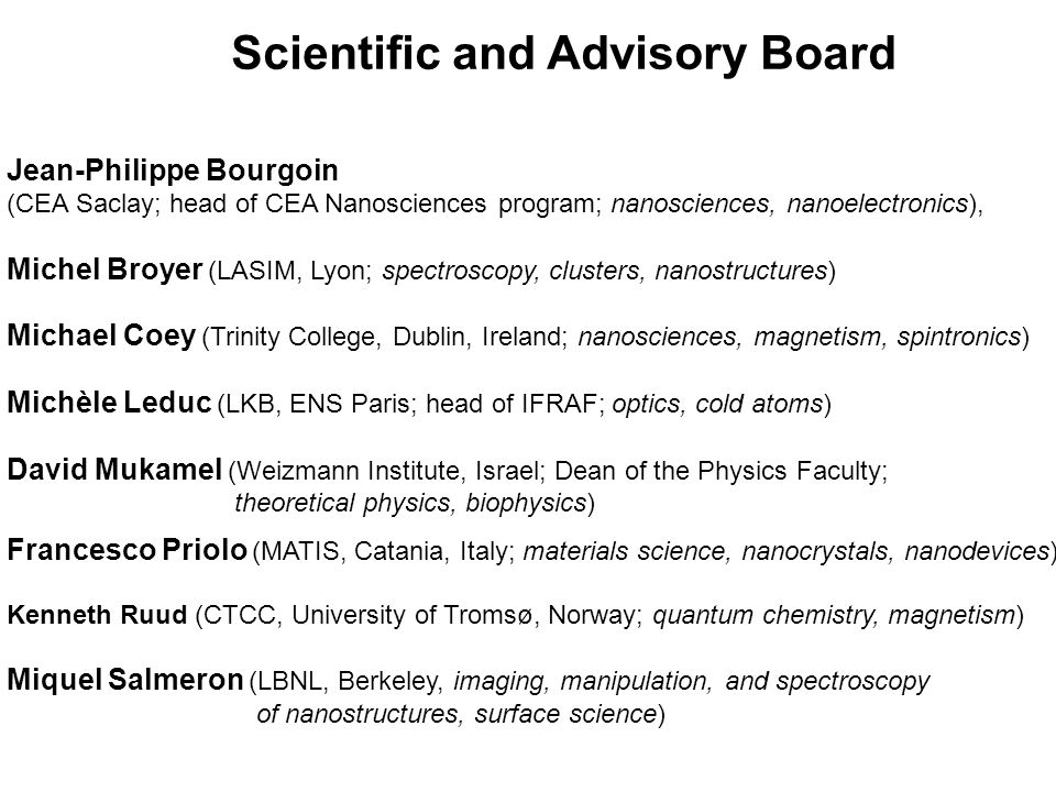 Scientific and Advisory Board
