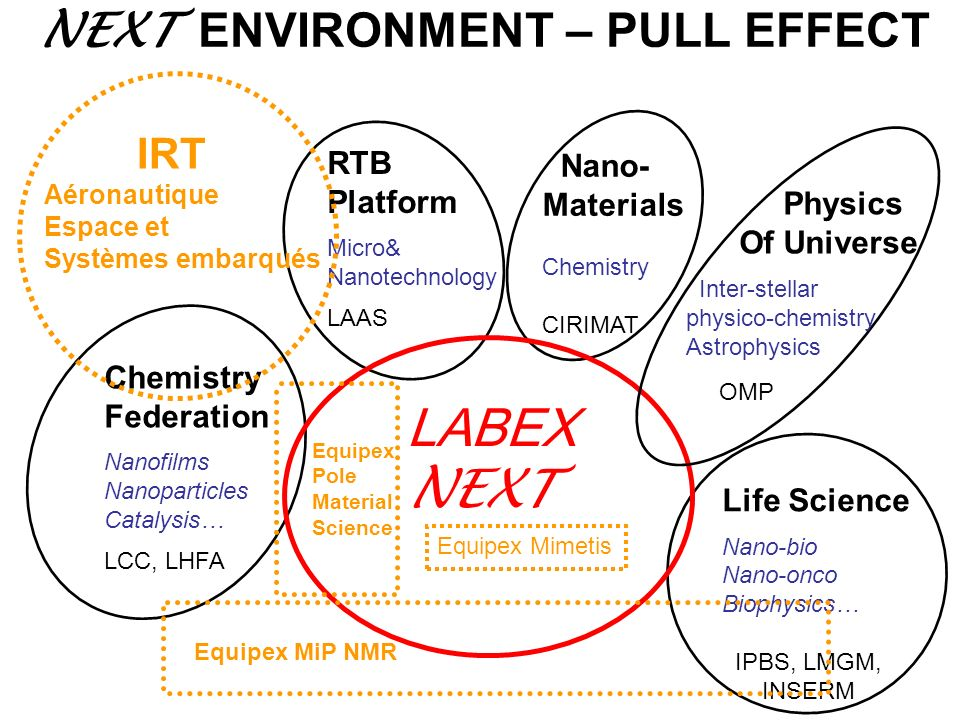 LABEX NEXT NEXT ENVIRONMENT – PULL EFFECT RTB Nano- Platform Materials