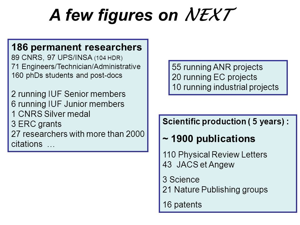 A few figures on NEXT 186 permanent researchers ~ 1900 publications