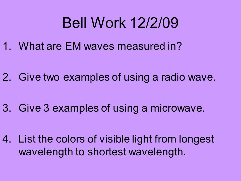 List The Colors Of Light From Shortest To Longest Wavelength