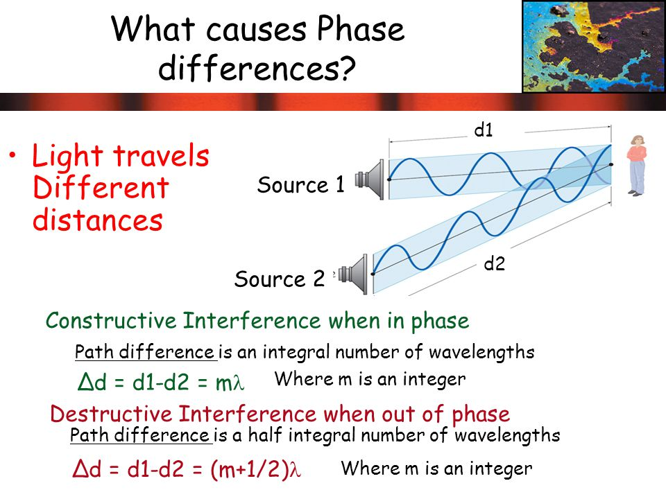 What causes Phase differences