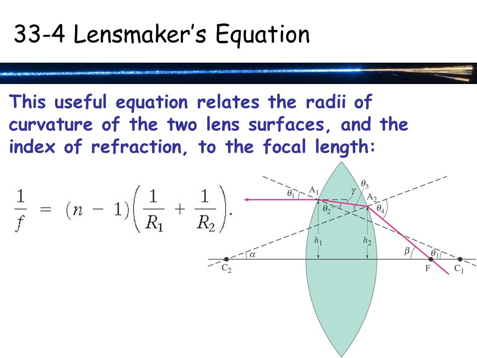 33-4 Lensmaker's Equation