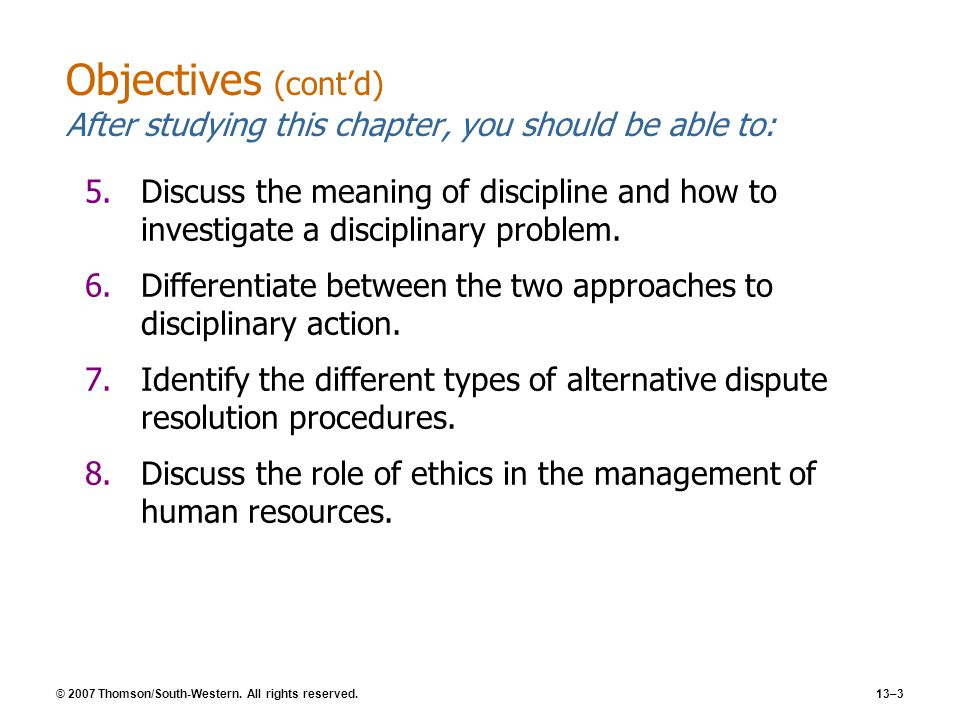 meaning of discipline in hrm