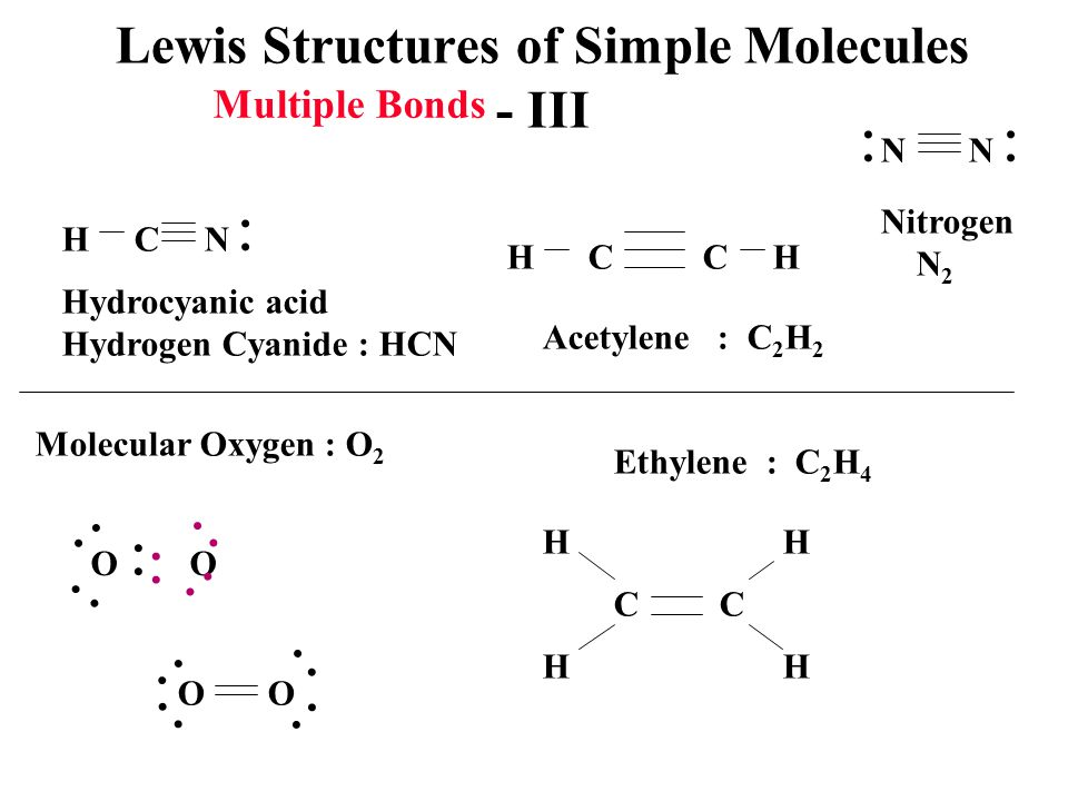 Lewis Structures of Simple Molecules - III