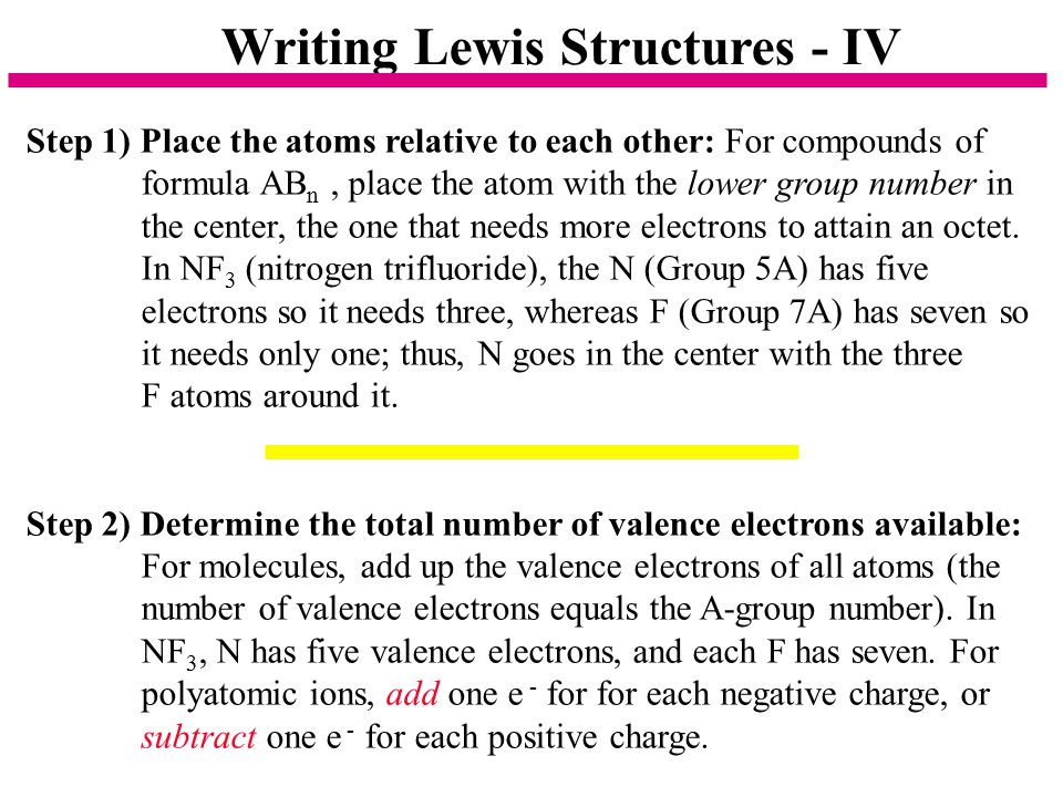 Writing Lewis Structures - IV