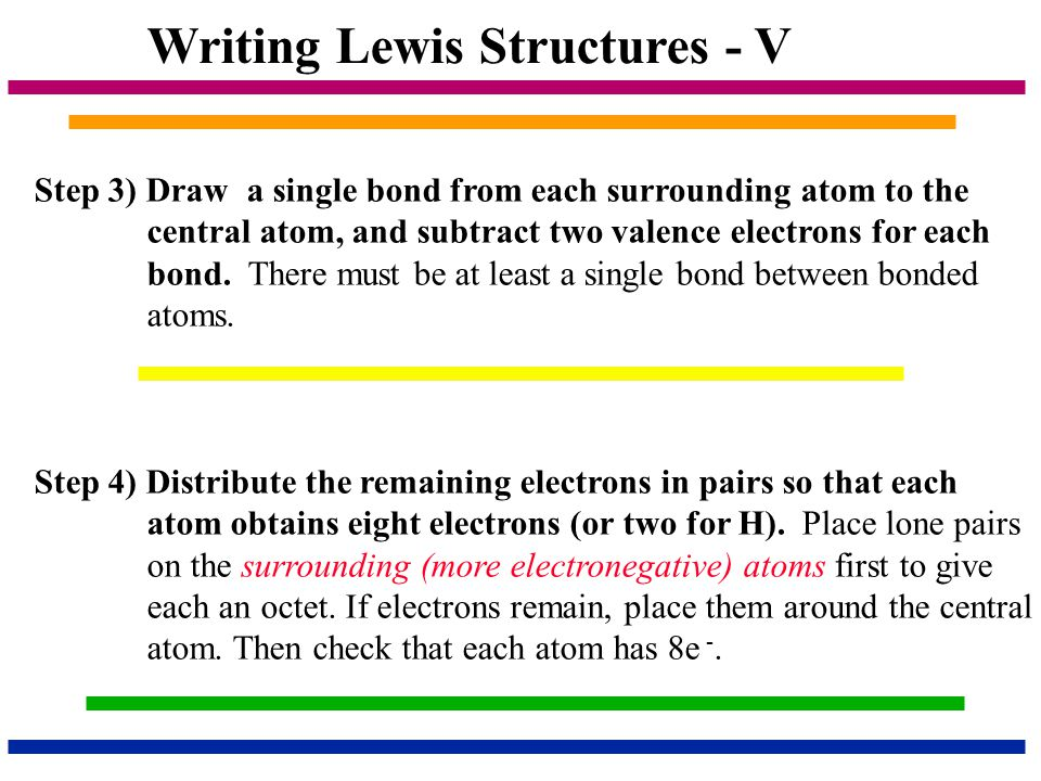 Writing Lewis Structures - V