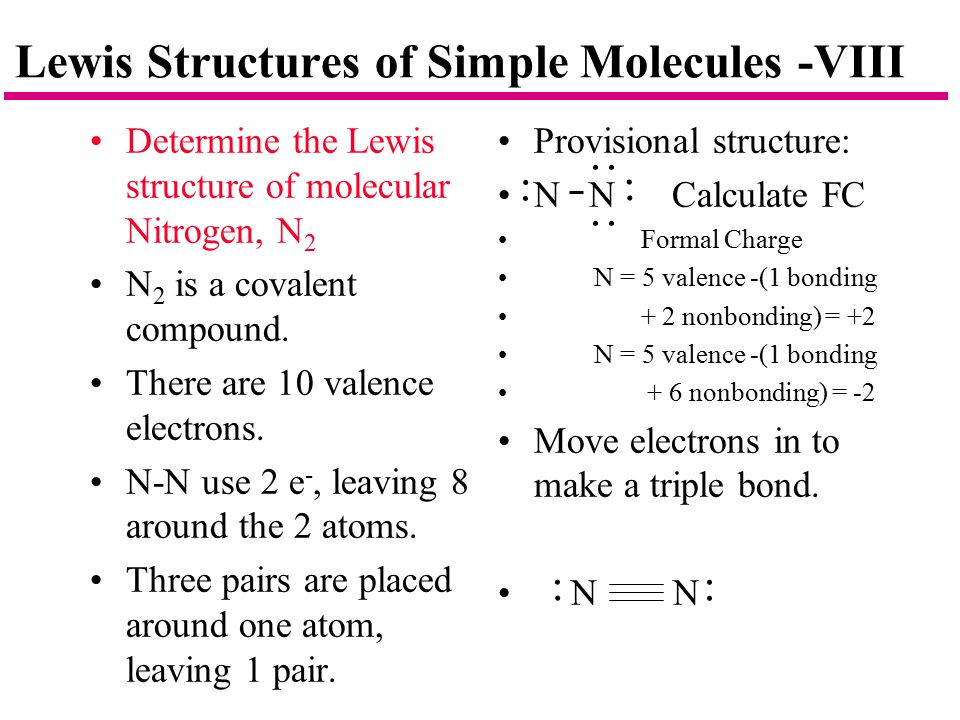 Lewis Structures of Simple Molecules -VIII