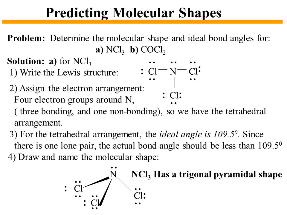 Predicting Molecular Shapes