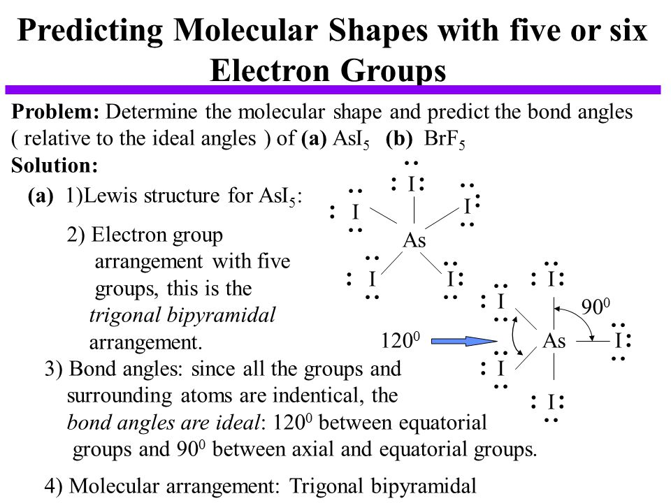 Predicting Molecular Shapes with five or six
