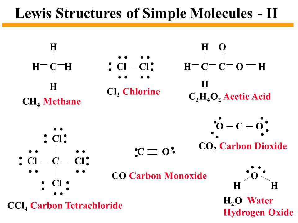 Lewis Structures of Simple Molecules - II