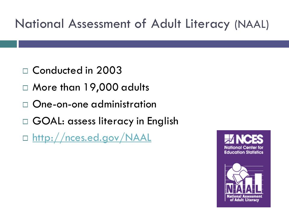 national Adult assessment literacy