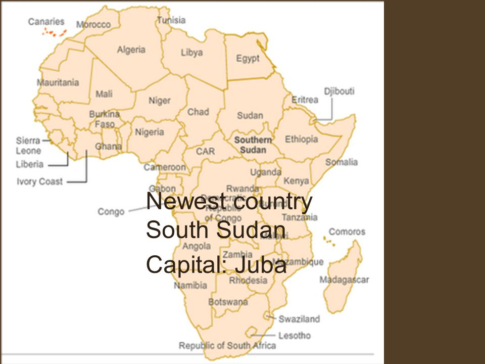 Newest country South Sudan