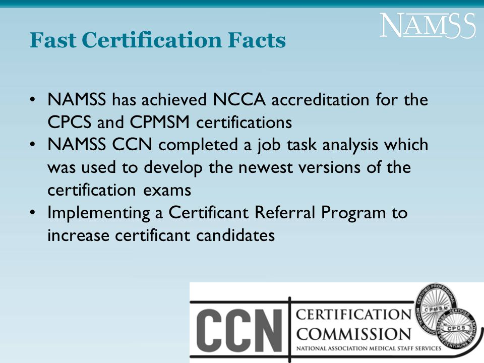 Namss Is Committed To Providing A Variety Of Educational