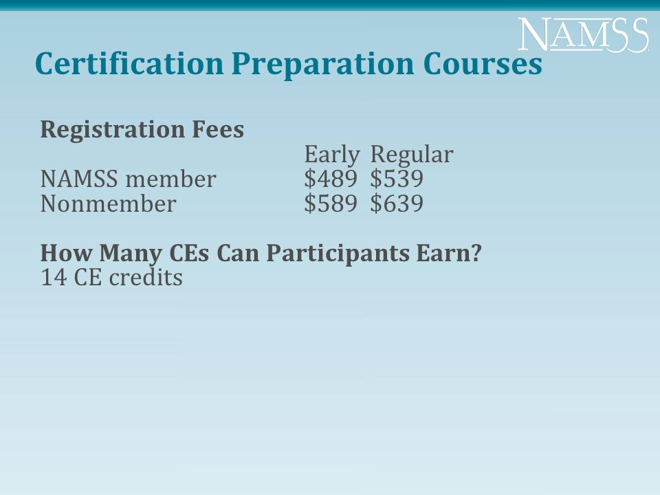 perfect namss certification image collection online